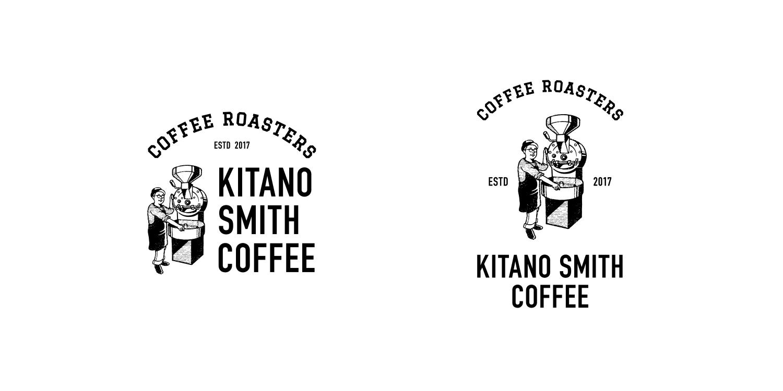 キタノスミスコーヒー ロゴ ショップロゴ 店舗ロゴ カフェ