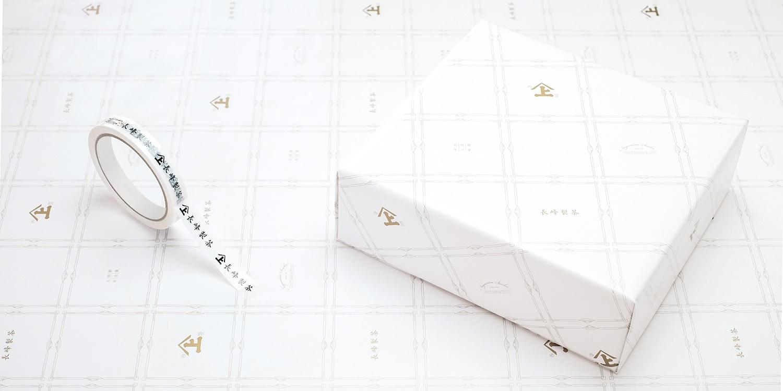 長峰製茶 企業ロゴ CI VI ブランディング デザイン 包装紙