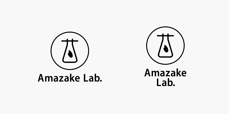 Amazake Lab.,ブランドロゴ,ロゴ,デザイン