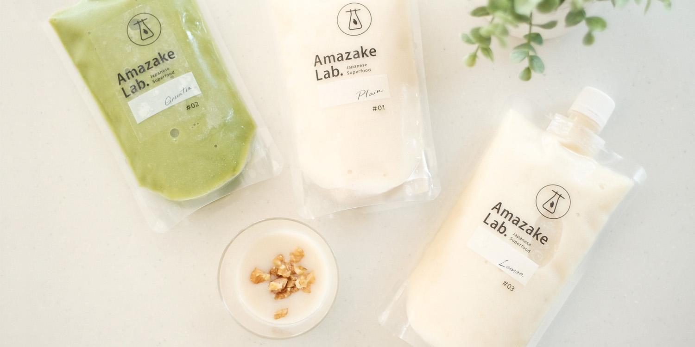 Amazake Lab.,ブランドロゴ,ロゴ,デザイン,パッケージ